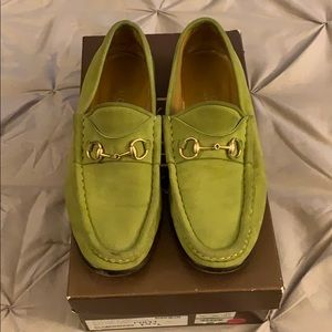 Genuine suede Gucci loafers
